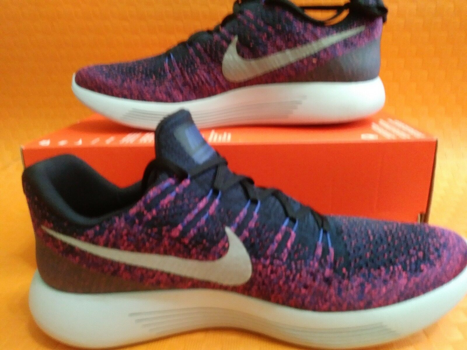 New Brand Nike Lunarepic Low Flyknit2 (863779 015) Black Reflect Silver Size11.5