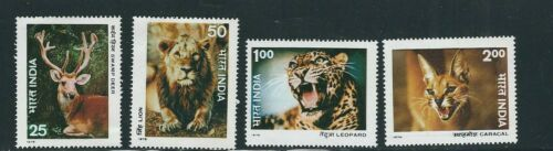 INDIA 1976 WILDLIFE PROTECTION set complete Scott 73639 VF MNH