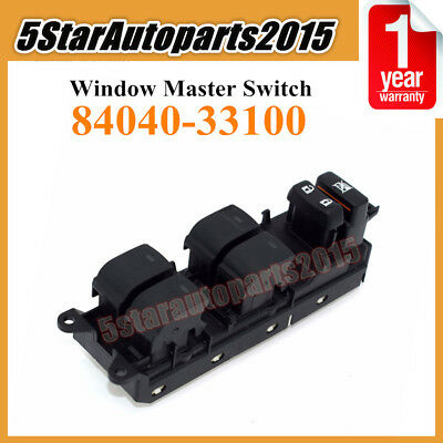 Left Hand Driver Side Power Master Window Switch for Toyo-ta Land C-ruiser Prius Ca-mry Venza Le-xus CT200h