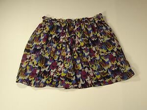 Dalia Collection Multi Color Elastic Waist Full Skirt Size 10  A6-12