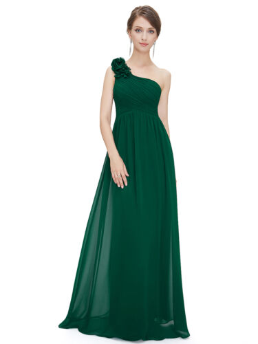 Ever-pretty US Plus Size Green One-shoulder Prom Gown Formal Evening Party Dress