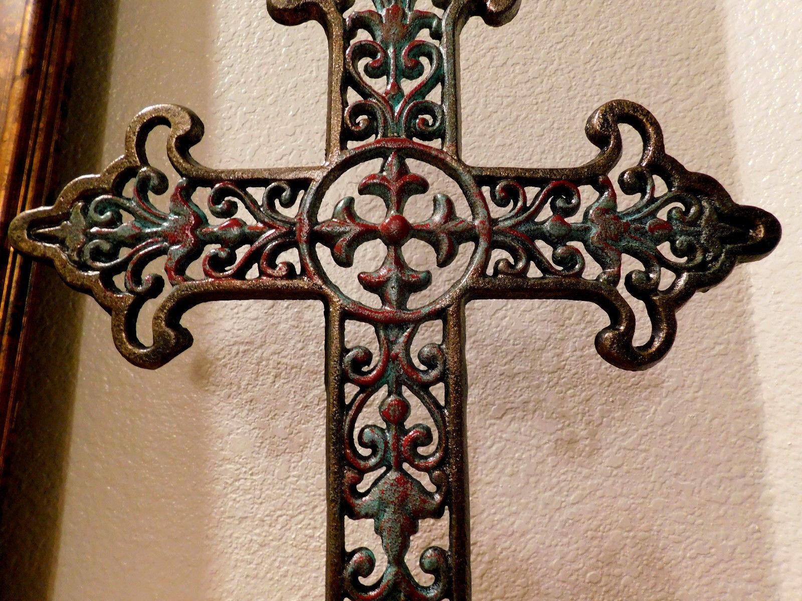 Iron Iron Iron Cross, Standing, Home Decor, Ornaments, Tabletop Decorations, Christian new f7837e