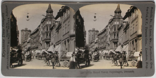 Denmark of 1900s 72 Card Set #13077 Copenhagen Keystone Stereoview Round Tower