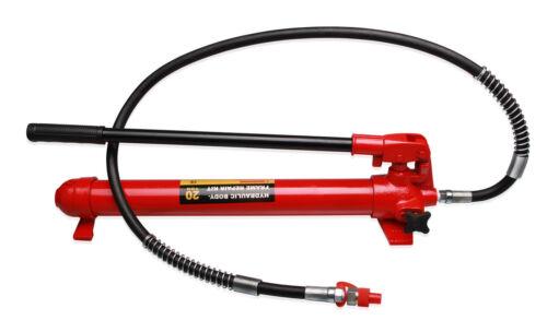 für Richtsatz Spreizer Druckzylinder Hydraulik Handpumpe mit Pumpstange 20 to