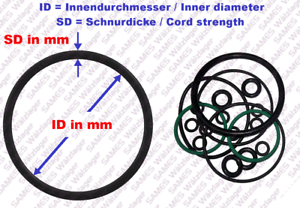 //Pieza// pièce O-Ring Dichtring  OR 94x3  NBR70   O-Anillo O-Anneau s 2 Stück//pc