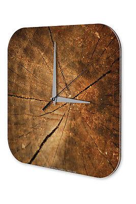Espressive Orologio Da Parete Tronco D'albero Decorazione Parete Acrilico Orologio Vintage Nostalgia-