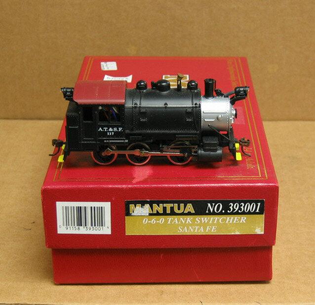 Mantua 393-001 Ho Santa Fe 0-6-0 Tanque Switcher con decodificador, no hay sonido, el 10% De Descuento