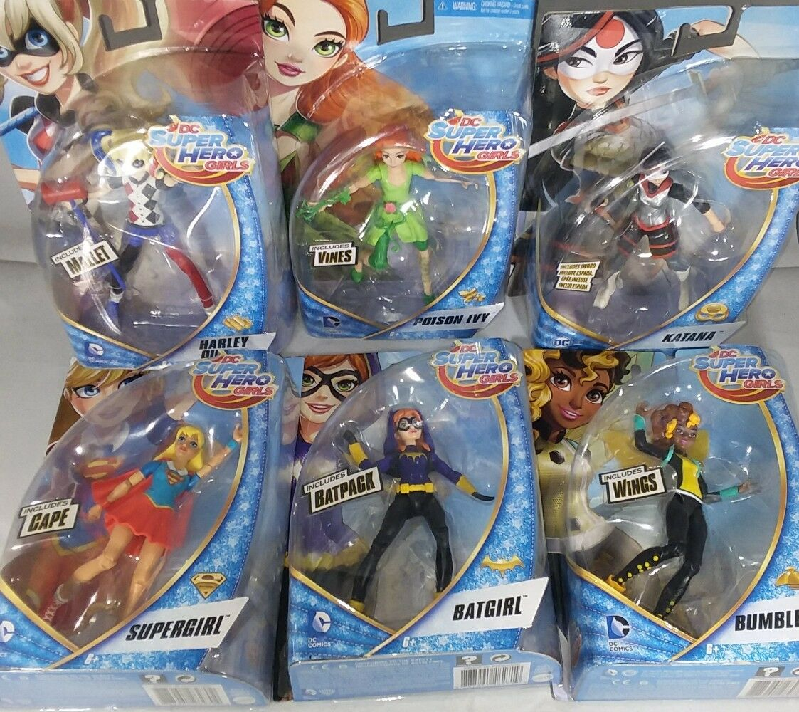 Set of 7 DC superhero girl action figures