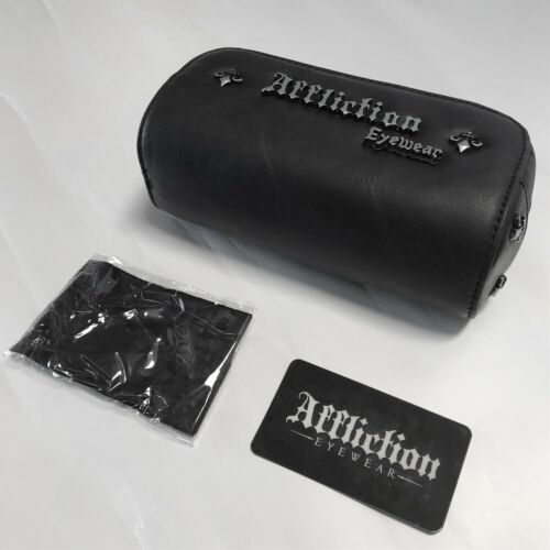 New Affliction Sunglasses Baxter A Silver White//Silver Tag and Box with Case