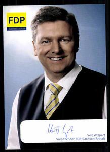 Ordentlich Veit Wolpert Autogrammkarte Original Signiert ## 38734 Wir Haben Lob Von Kunden Gewonnen Politik, Adel & Militär