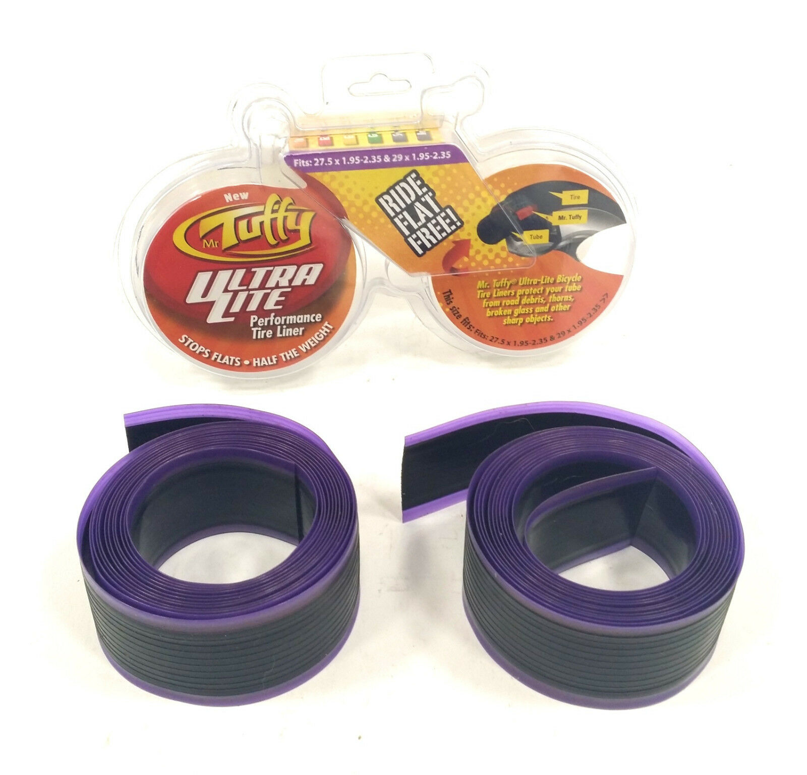 "Mr Tuffy Ultra-Lite tire liner 27.5 /& 29x1.95/""-2.35/"" purple"