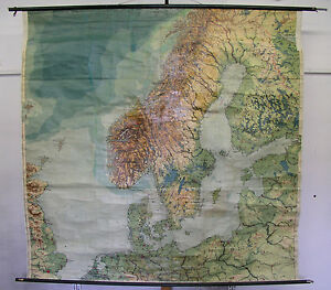 Old School Wall Map North and Baltic countries before 1939 206x200 ...