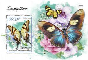 Central Africa - 2019 Butterflies - Stamp Souvenir Sheet - CA190109b