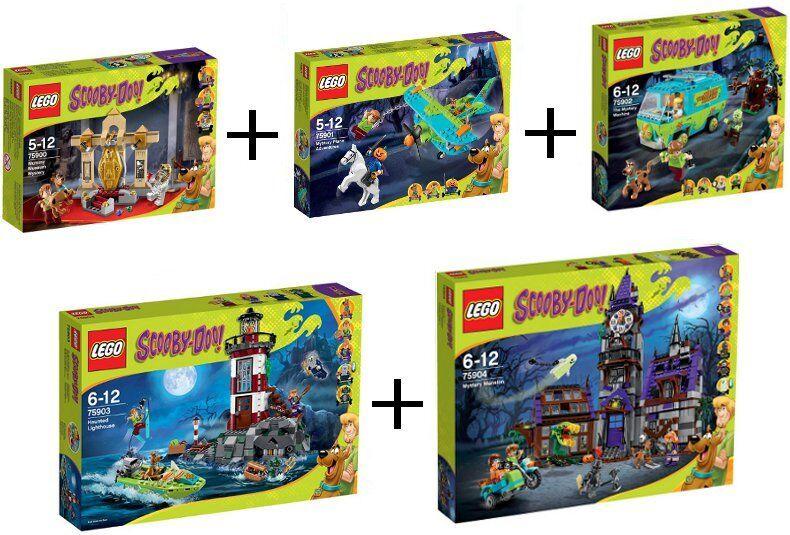 LEGO SCOOBY-DOO COLECCIÓN COMPLETA 75900 75901 75902 75903 75904 NUEVO SIN ABRIR
