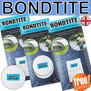 Image is loading Bondtite-Waterproof-Self-Adhesive-Tapes-Patches-Repair -Bivvy-  sc 1 st  eBay & Bondtite Waterproof Self Adhesive Tapes Patches Repair Bivvy tent ...