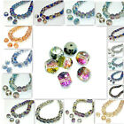 10pcs Faceted Rondelle crystal glass Loose beads 12mm U choose color
