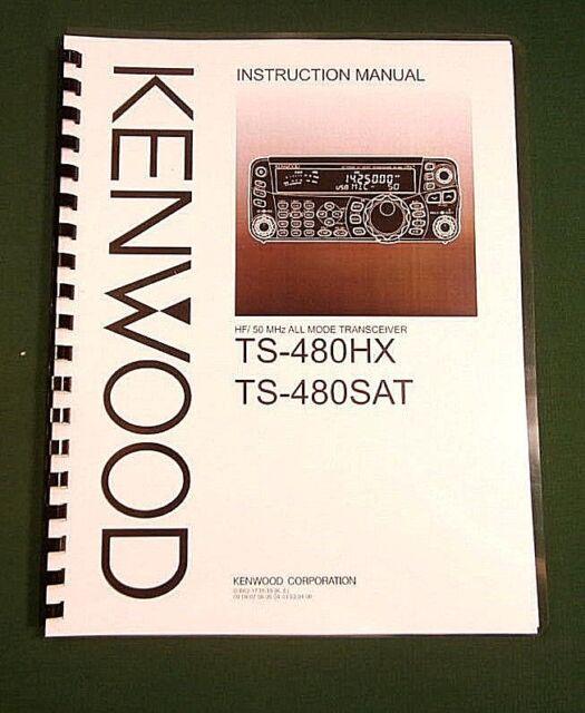Kenwood TS-480SAT / TS-480HX Instruction Manual: Card Stock Covers & 32lb  Paper!