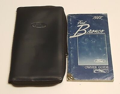1988 FORD BRONCO OWNERS MANUAL GUIDE XLT EDDIE BAUER V8 4 ...