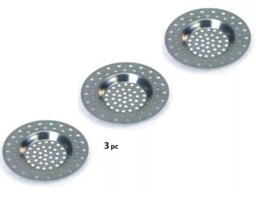 3pc Steel Kitchen Sink Strainer Bath Strainer Plug Filter Plug Hole Waste Clean
