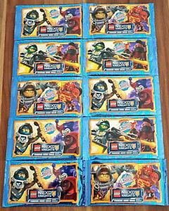 10 Booster = 50 Karten LEGO NEXO KNIGHTS Trading Card Game OVP.