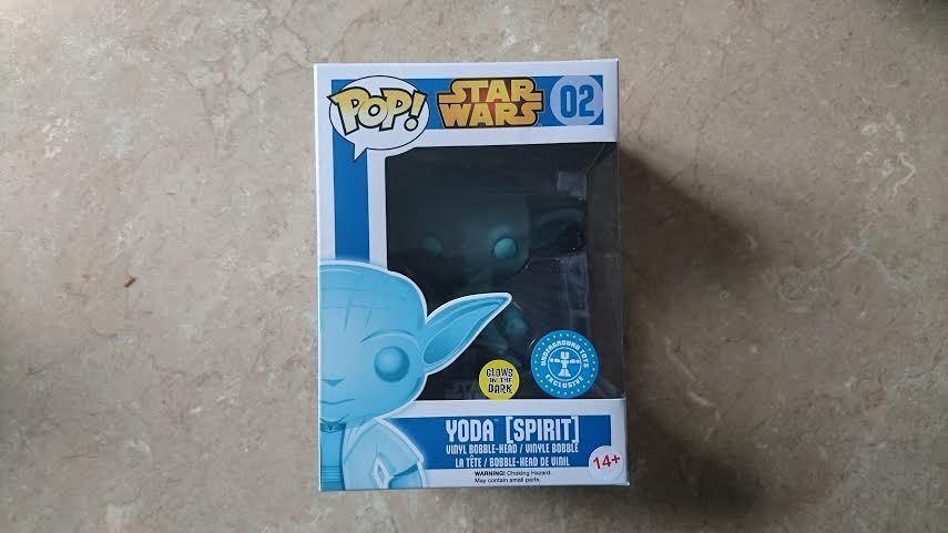 FUNKO Star Wars Geist Yoda Leuchtfarbe U-Bahn Exclusiv Pop  Vinyl