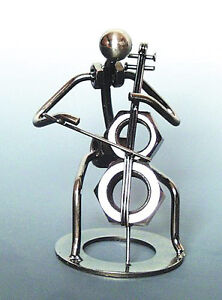 Cello Player Metal Sculpture - FRIENDLY SERVICE & FAST SHIPPING!