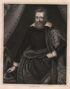 1834 Datierter Georgianisch Aufdruck ~ Henry Danvers Earl Von Danby