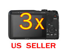 3x Sony CyberShot DSC-HX30V Clear LCD Screen Protector Guard Shield Film