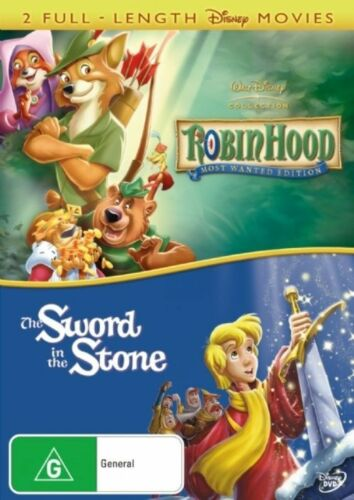 1 of 1 - Robin Hood / The Sword In the Stone  - DVD - as NEW R4