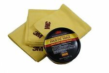 3M 39526 Show Car Paste Wax (10.5oz) and 06017 Perfect-It Detailing Cloths (3)