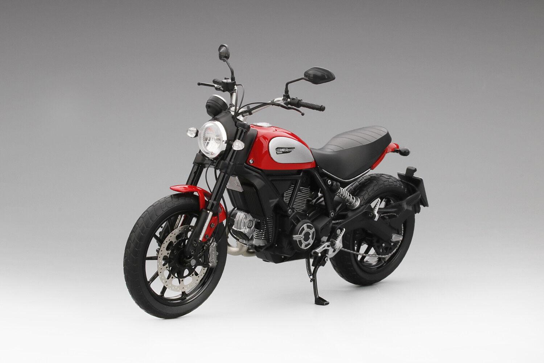 2015 rot ducati gedrängel icon rot 1   12 druckguss motorrad - modell von tsm mc0004