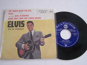 EP-4-TITRES-VINYLE-45-T-ELVIS-PRESLEY-ONE-BROKEN-HEART-VG-EX-RCA-86-310