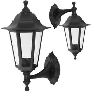 Wall-mounted-Outdoor-Lantern-style-lamp-Garden-Light-250x165-Black