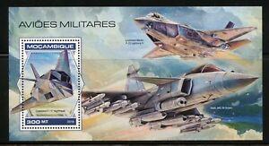 Mozambique-2018-avions-militaires-SOUVENIR-SHEET-Comme-neuf-jamais-a-charniere