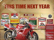 Next Year Bike Vintage Garage 916 Motorcycle Motorsport Large Metal/Tin Sign