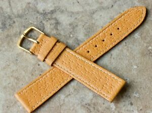 Classic-color-Real-Pigskin-18mm-vintage-watch-strap-contrast-stitched-NOS-1960s