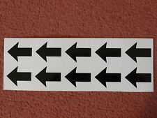20 X ARROW STICKERS BLACK,  SMALL VINYL CRAFT DECALS, EACH ARROW 3cmx3.75cm,