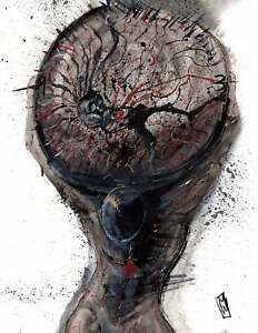 Mind-Weighs-on-Me-Black-Ink-Atlas-Figure-Psychedelic-Fine-Wall-Art-Print-11x14