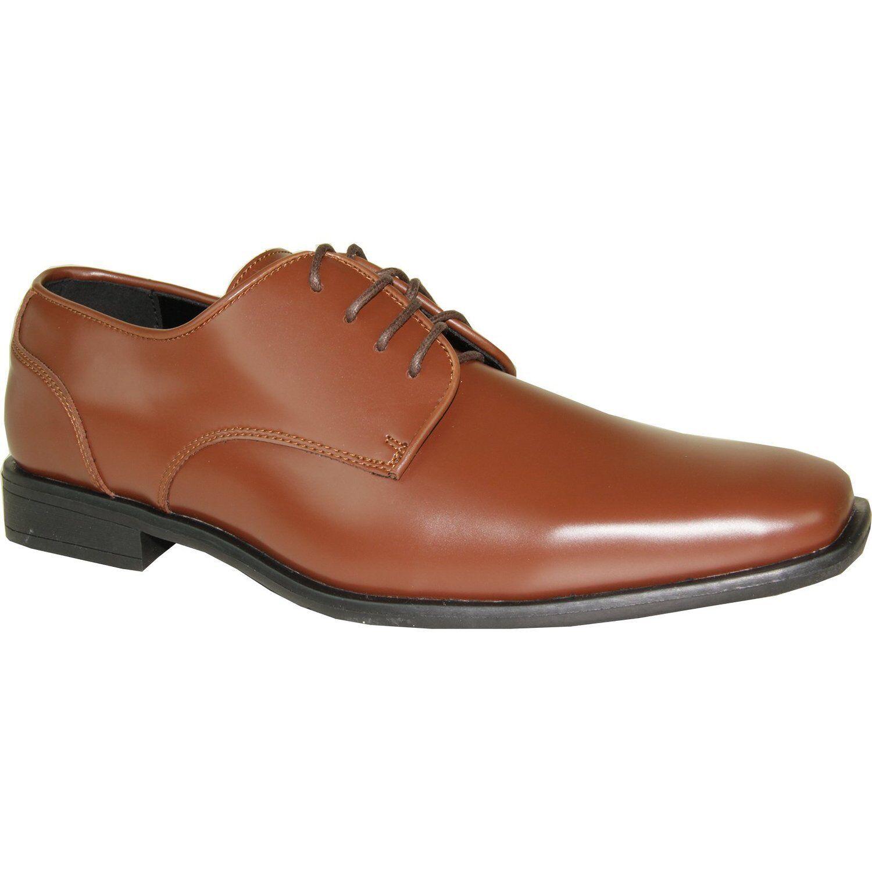 Vangelo Tux-2 Wrinkle Free Dress Oxford Formal Pointy Square Toe Cognac Matte