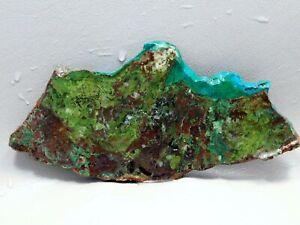 Parrot-Wing-Chrysocolla-Malachite-Unpolished-Stone-Lapidary-Slab-Cabbing-Rock-2