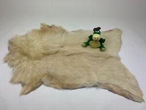 Unique Goat Leather Skin Fur Rug Pelt