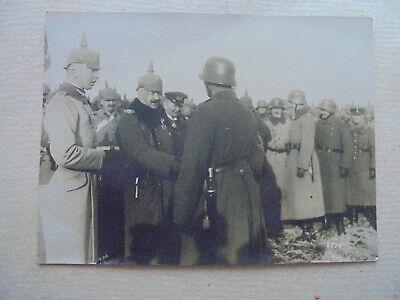Zielstrebig 31692f Foto Bufa 12x16cm 6350 Kaiser Bei Den Cambraikämpfern Ordensverleihung