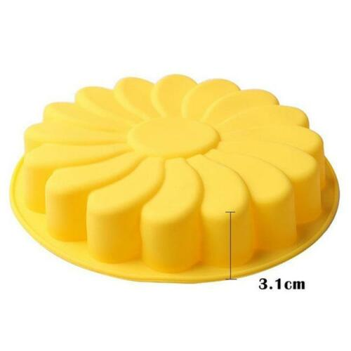 Sunflower Cake Cookie Bread Pizza Baking Silicone Bakeware Mould Mold  T3
