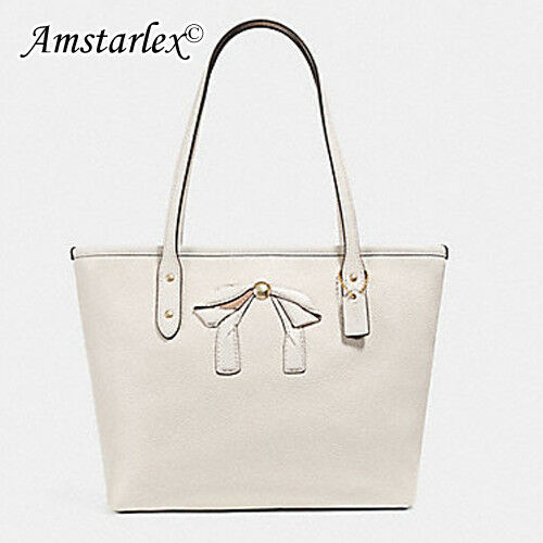 f9f1829b549 Coach F28988 Leather Mini City Zip Tote Bow Handbag for sale online | eBay