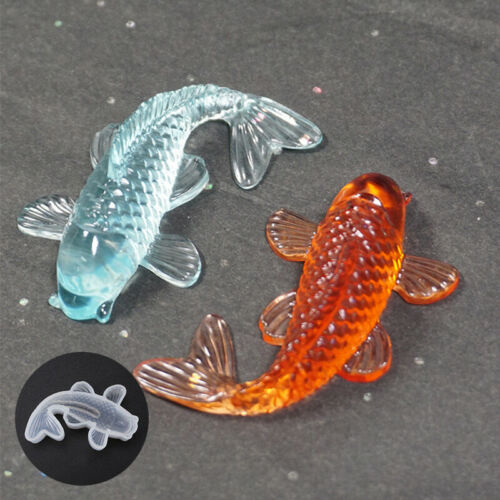 DIY Crafts Decorative Pendant Making Silicone Mold Resin goldfish Mould