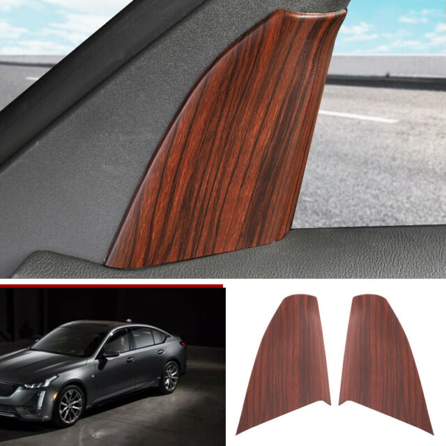 For Cadillac Ct5 2019-2020 Peach Wood Grain Front Triangle