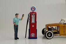 Tanksäule  petrol pump pompe a essence / Pontiac Service 1:18 no car Figur