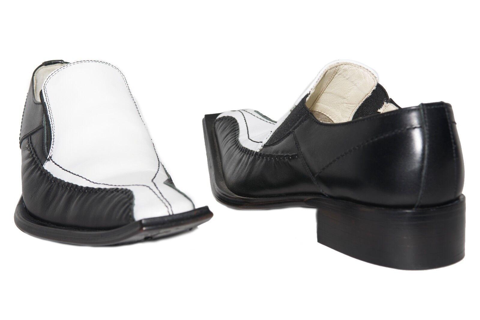 Venti M -388 Made in Spain nero   bianca leather slip on scarpe  varie dimensioni