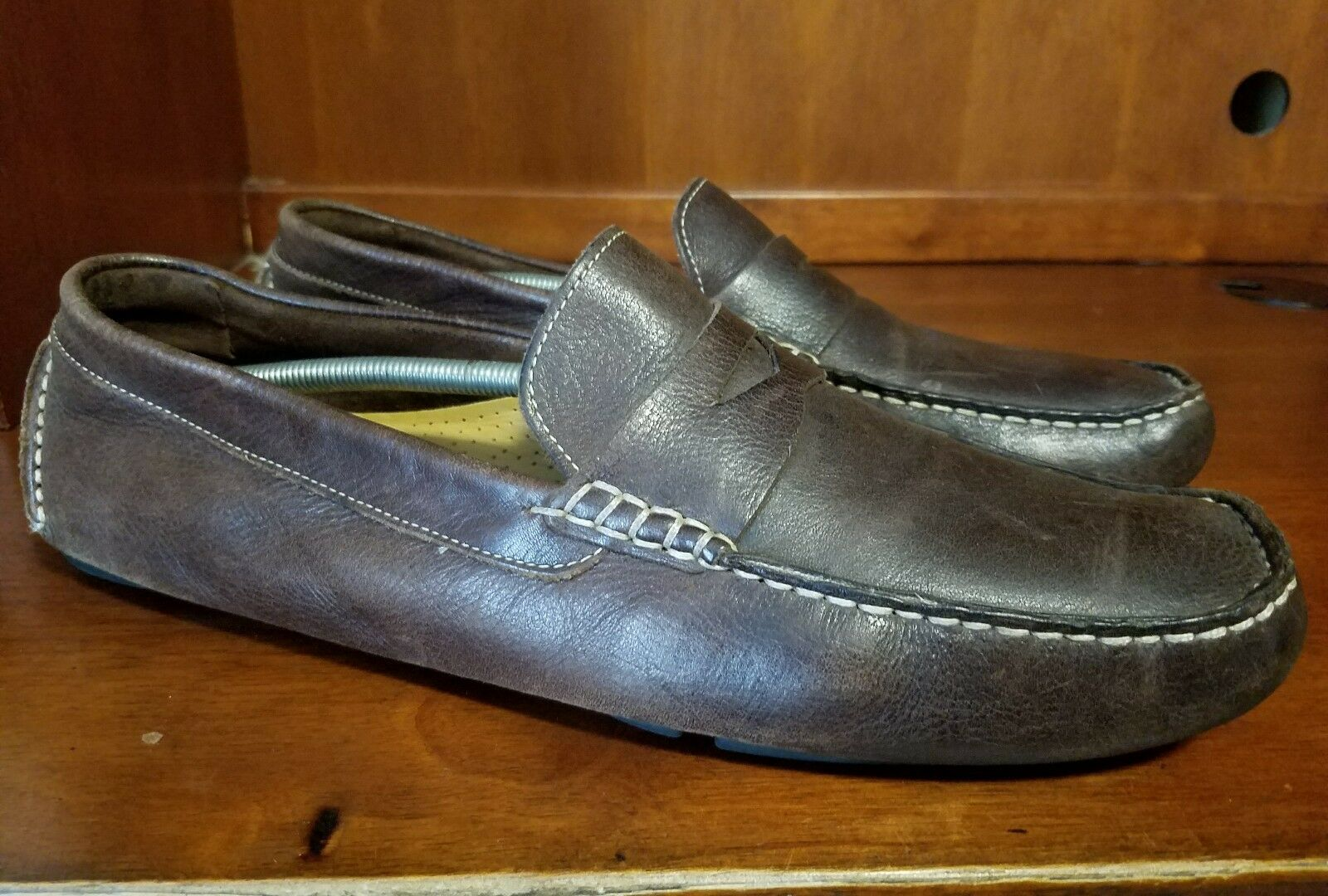 Cole Haan Moccasins Men Distress Braun Leder Driving Loafers Moccasins Haan Größe 11.5 M 310f27