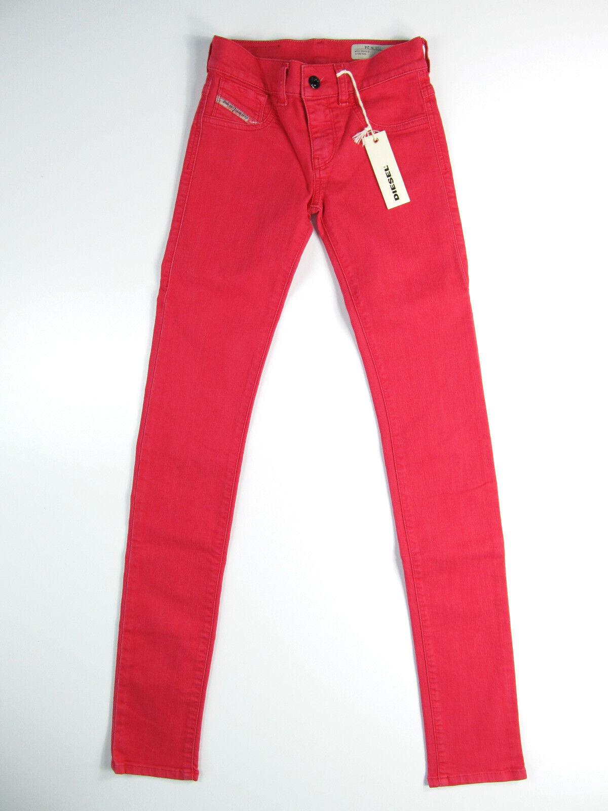 Diesel Denim Hose Jeans Pantaloni Livier Super Slim Jegging red pink Neu 24